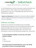 Vorschau auf Selbstcheck-App